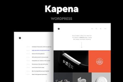 Kapena - Минимальный Портфолио WordPress Тема