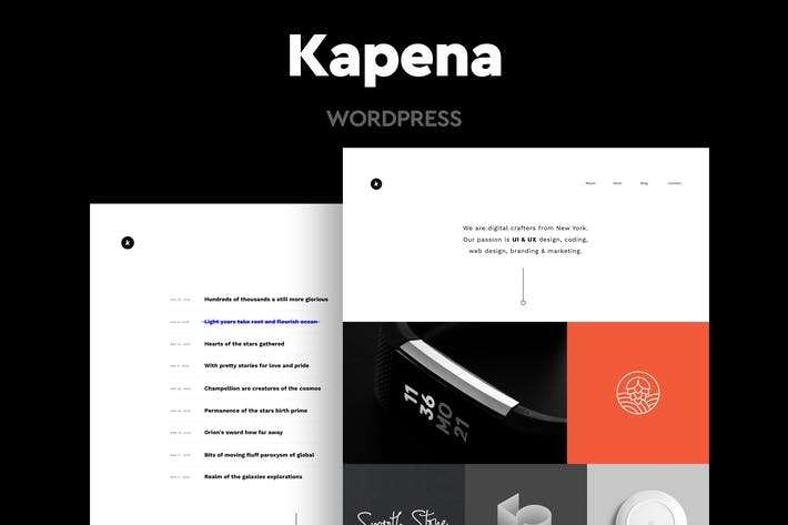 Thumbnail for Kapena - Minimal Portfolio WordPress Theme