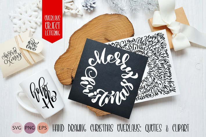 Thumbnail for Hand Drawing Christmas Lettering and Elements
