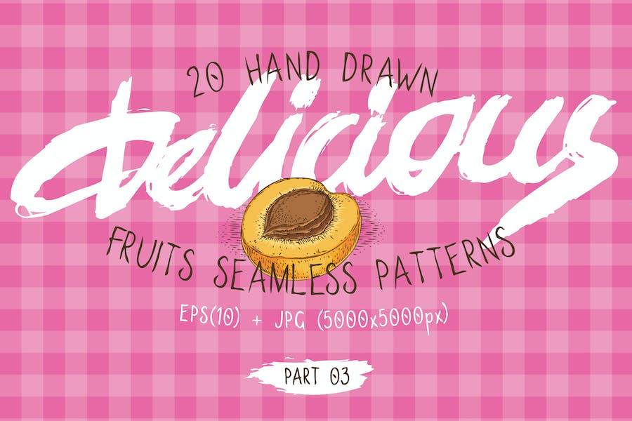 Fruits Seamless Patterns Set