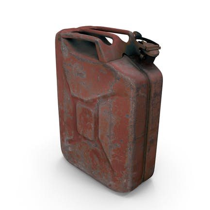 Old Red Rusty Gasoline Canister