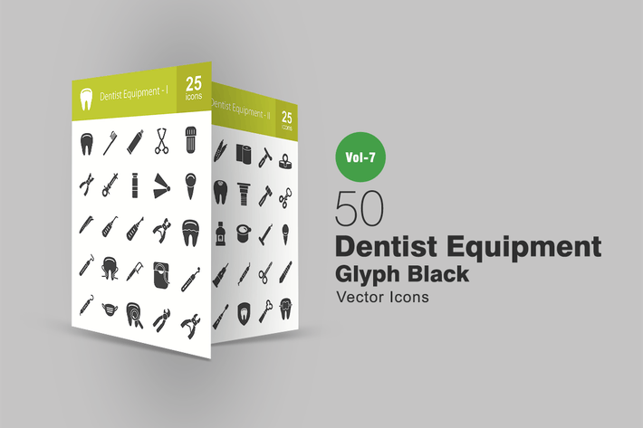 Thumbnail for 50 Dentist Equipment Glyph Icons