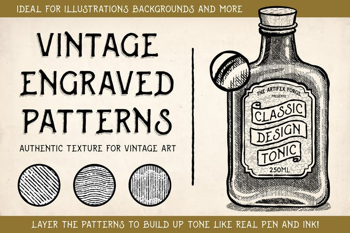 Thumbnail for Vintage Engraved Patterns