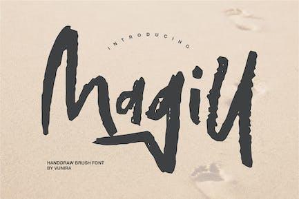 Magill | Fuente de pincel para dibujar a mano