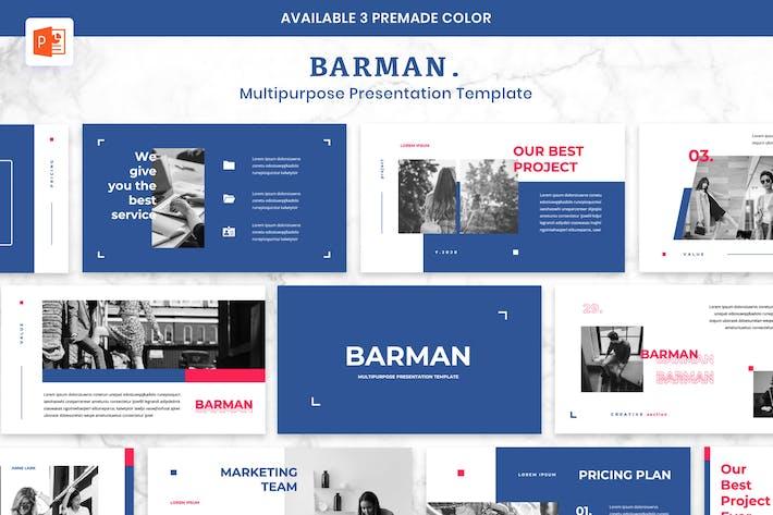 Thumbnail for BARMAN - Multipurpose Presentation Powerpoint
