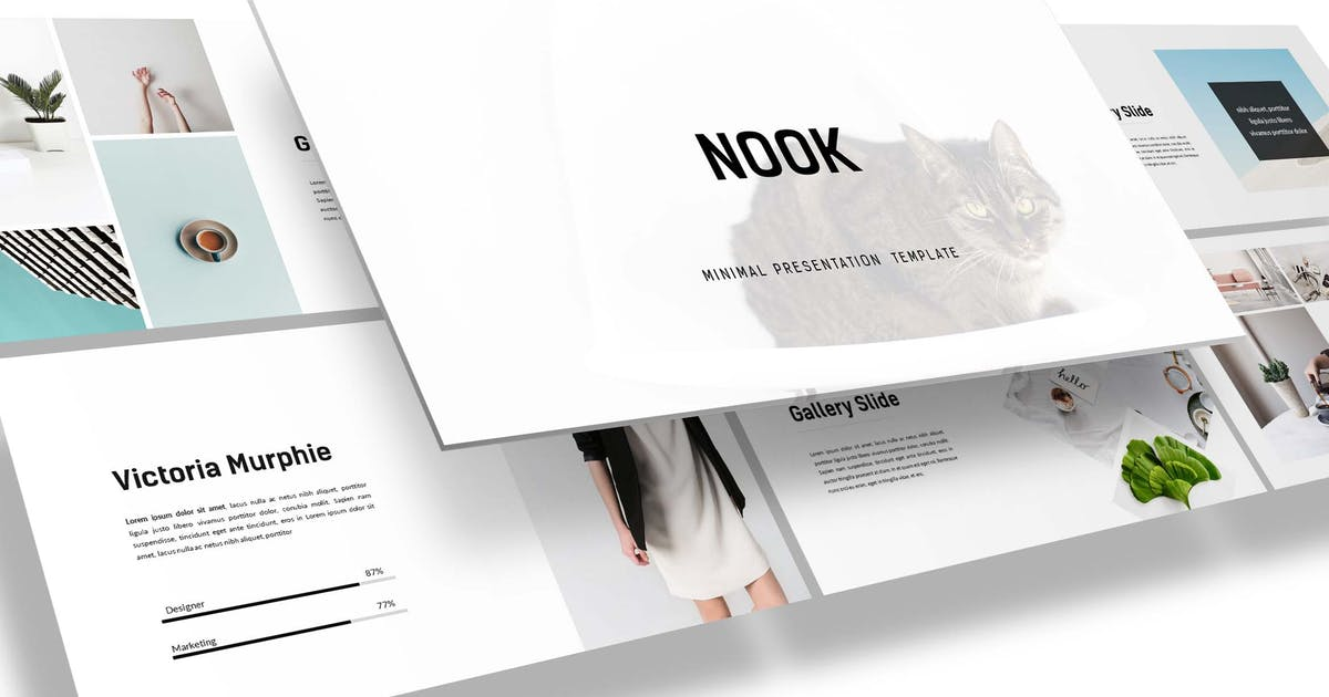 Download Nook - Minimal Powerpoint Template by inspirasign