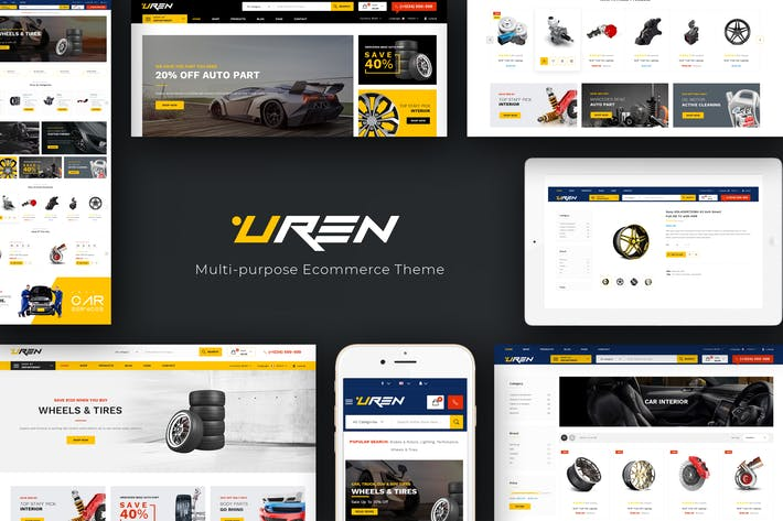 Thumbnail for Uren - Car Accessories Opencart Theme