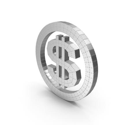 Metal dólar con remaches