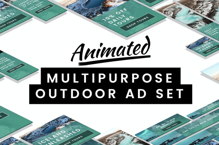 Thumbnail for Animated Multipurpose Outdoor Ad Set