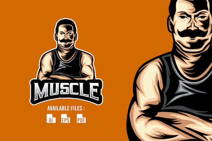 Thumbnail for Muscle  Logo Template