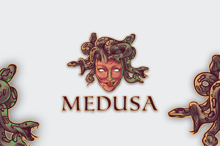 Thumbnail for Medusa Mascot Logo