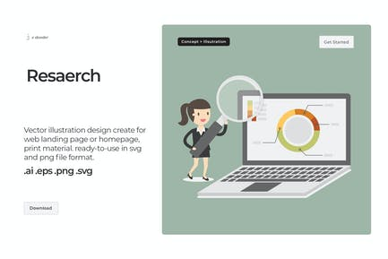 Dooder - Research & Data Analytic Illustration