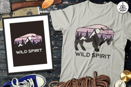 Wilderness Vector Patch - Mountain Camp Retro Logo
