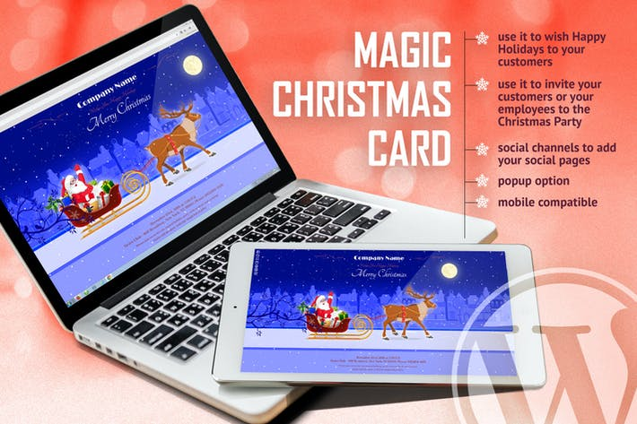 Thumbnail for Magic Christmas Card With Animation - WP Plugin