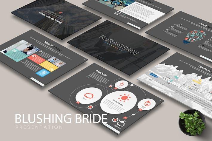 Cover Image For BLUSHING BRIDE Google Slides