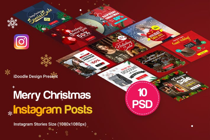 Cover Image For Holiday Sale, Christmas Instagram Posts