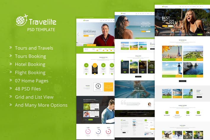 Cover Image For Travelite | Tours and Travels Online Booking PSD