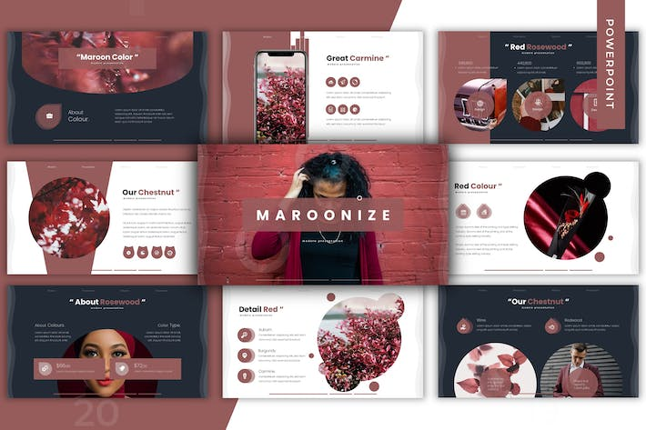 Thumbnail for Maroonize - Powerpoint Template