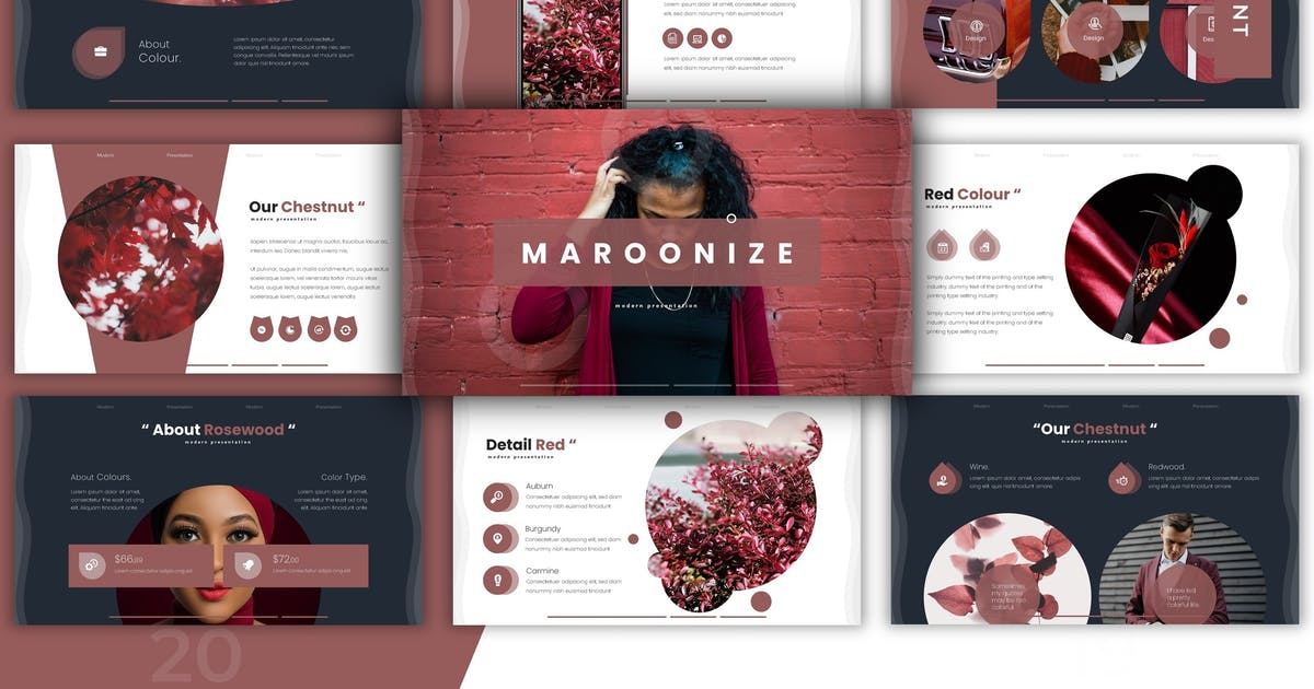 Download Maroonize - Powerpoint Template by vincentllora