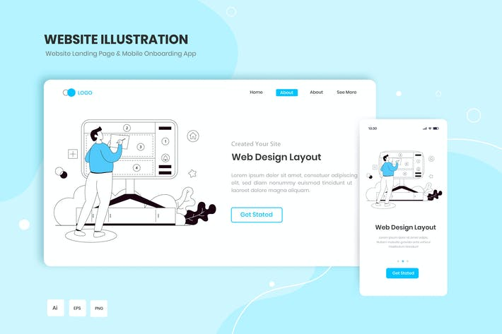 Web Design Layout Illustration