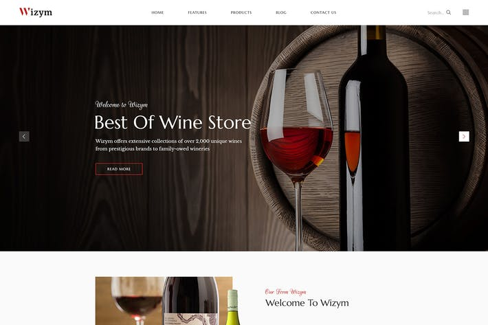 Thumbnail for Wizym | Wine & Winery HTML Template
