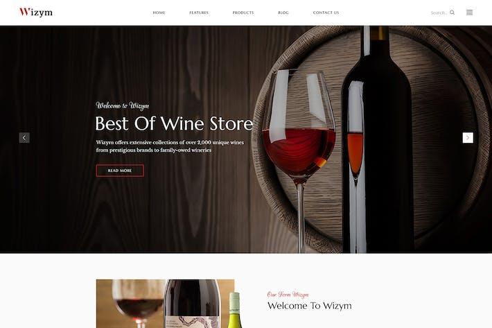 Wizym | Modèle HTML de vin et cave
