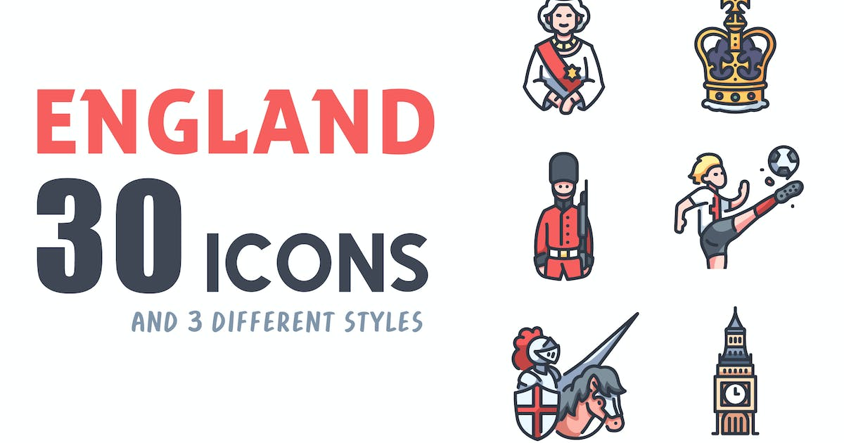 Download 30 England icon set by Maxicons