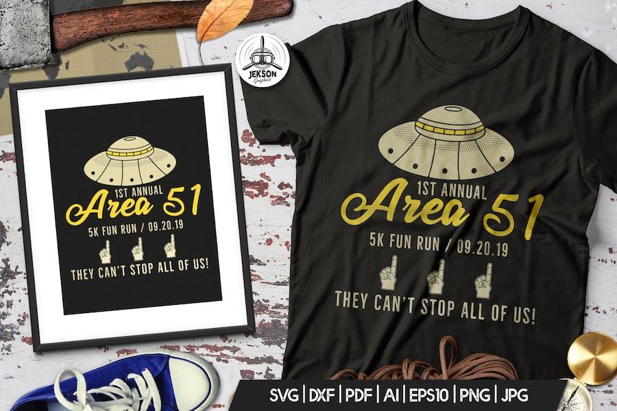 Storm Area 51 Funny Print T-Shirt, UFO Aliens Logo