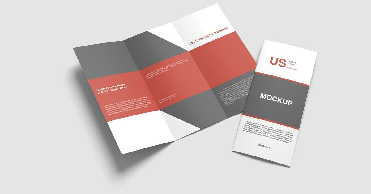 Download US Letter Trifold Mockup by graphiccrew