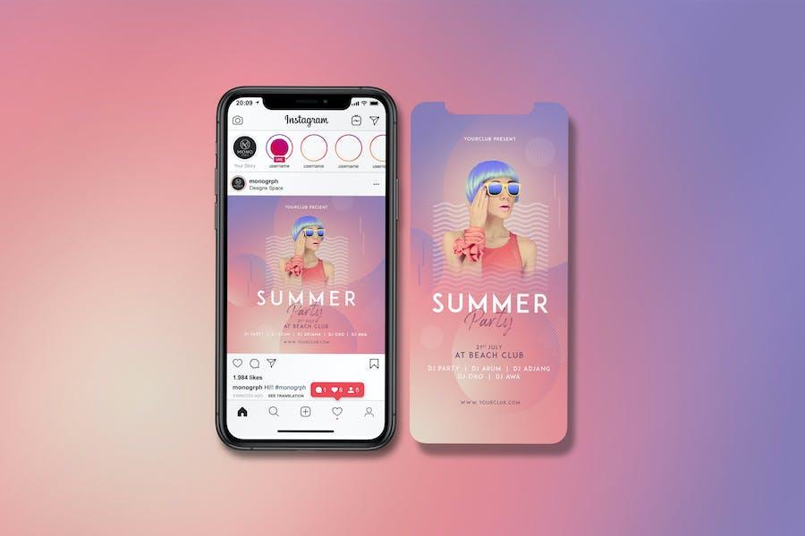 Sommerfest-Instagram-Set