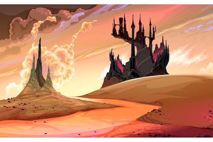 Thumbnail for Château noir au coucher du soleil