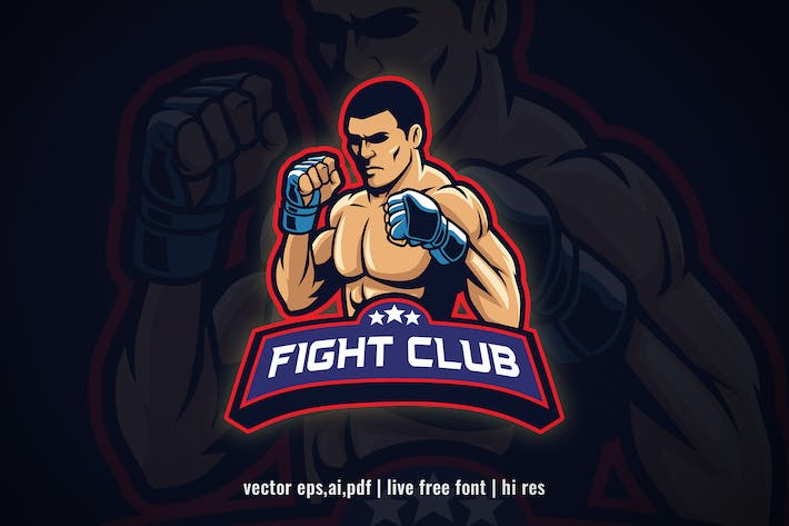 Thumbnail for MMA fighter Club Logo