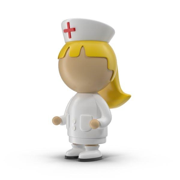 Cartoon weibliche Krankenschwester