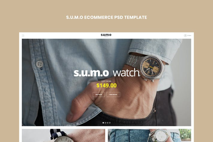 Thumbnail for Sumo - eCommerce PSD Template