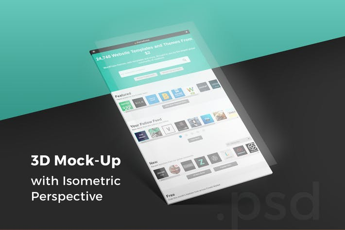 Thumbnail for 3D Isometric Perspective Mock-Up