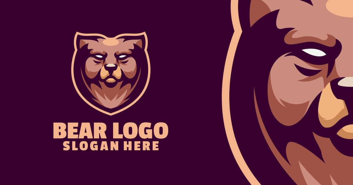 Download Bear logo template by Ary_Ngeblur