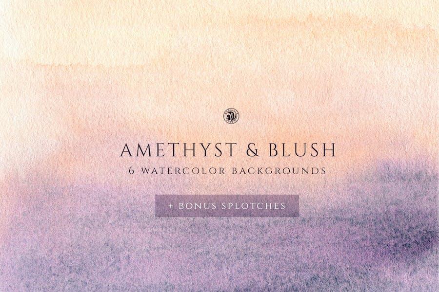 Aquarell Hintergründe - Blush