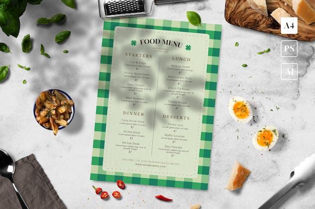 St. Patrick's Food Menu