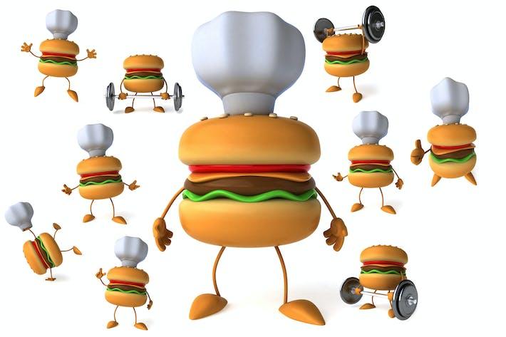 10 lustige Cartoon Hamburger!