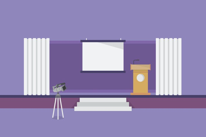 Cover Image For Conference - Illustration Background
