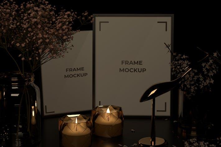 Thumbnail for Candle Light Portrait Frame Mockup