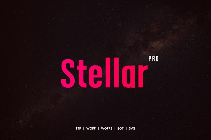 Cover Image For Stellar - Modern Typeface + WebFonts
