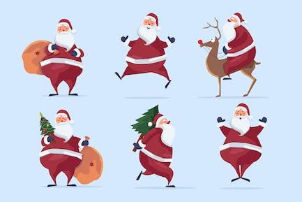 Besetzter Weihnachtsmann Clipart