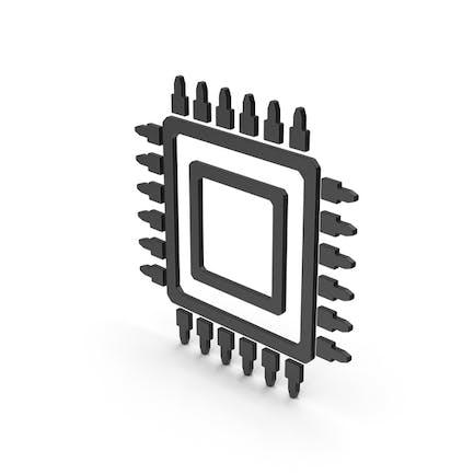 Symbol Microchip Black