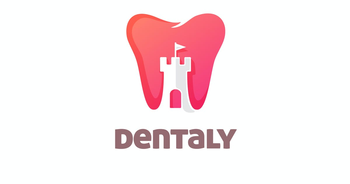 Download Tooth and Castle Negative Space Logo by Suhandi