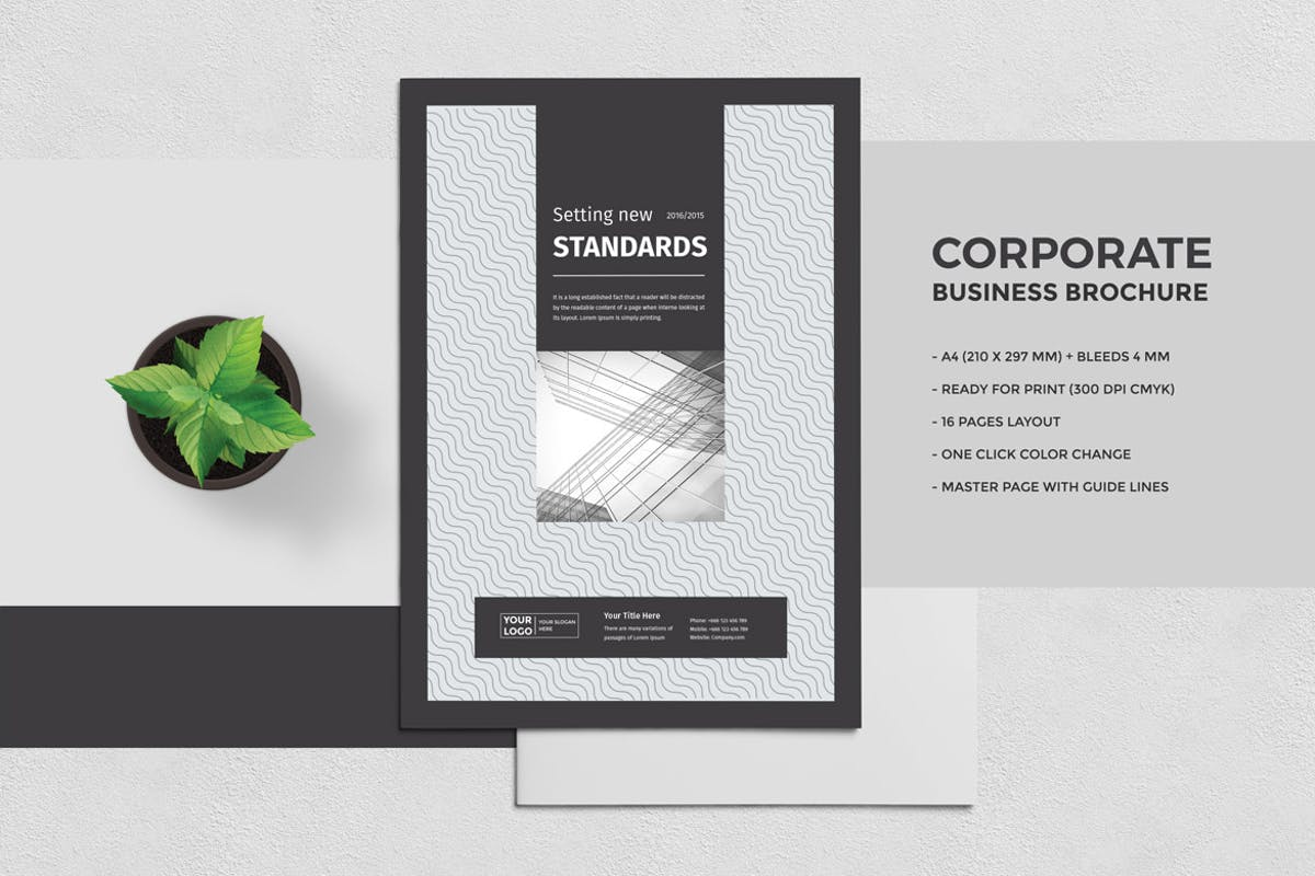 Multipurpose brochure template 16 pages by pro gh on for Brochure templates envato