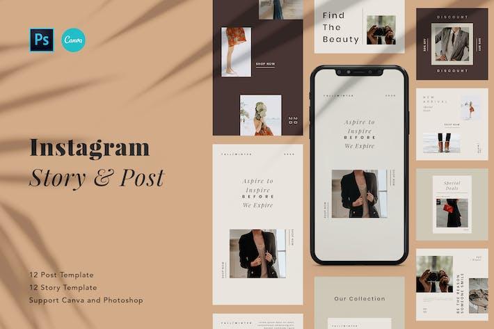 Thumbnail for Minimalist Beauty Instagram Post & Story Canva