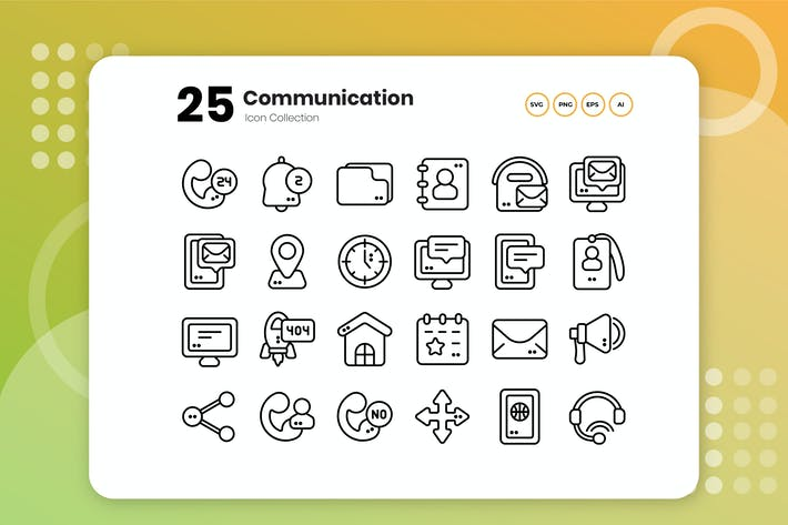 Thumbnail for 25 Communication Outline Icon