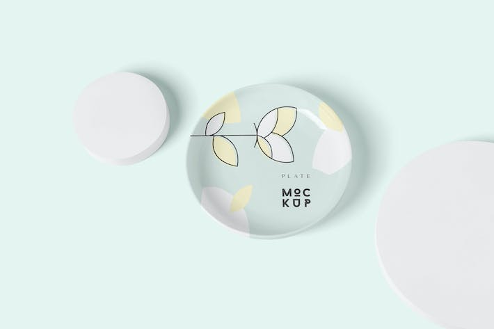 Thumbnail for Round Ceramic Plate Mockup Templates