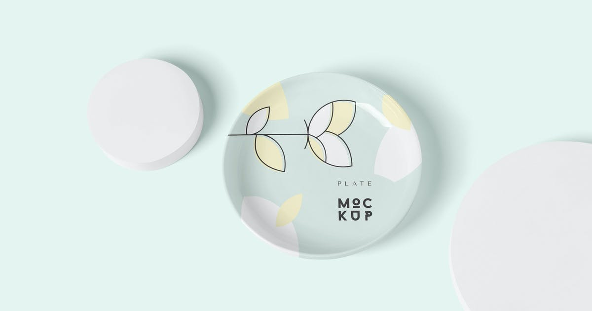 Download Round Ceramic Plate Mockup Templates by DesignNeutrons